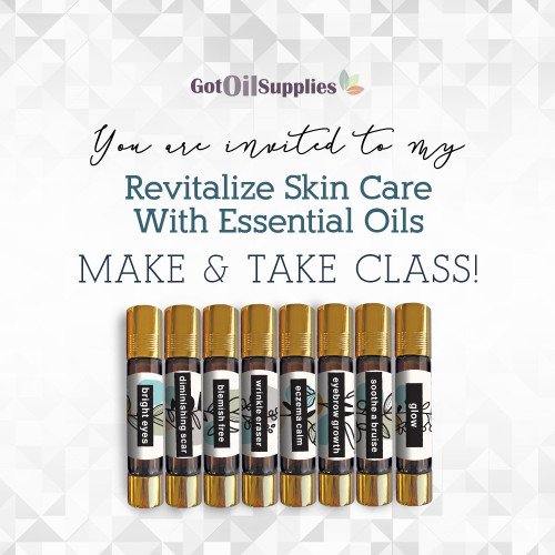 FREE Downloadable Revitalize Skin Care Essential Oil Collection eInvite For Social Media and Email Campaigns