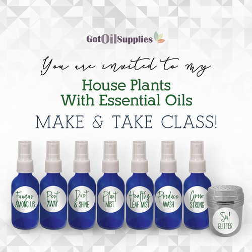 FREE Downloadable House Plants and Essential Oils Collection eInvite for Social Media and Email Campaigns