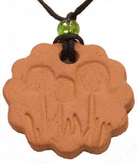 Tulip Flowers Terracotta Necklace For Essential Oils