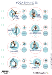Yoga Enhanced with Essential Oils Label Sheets