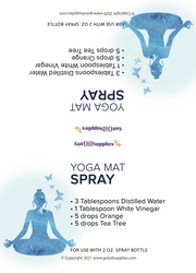 Yoga Enhanced with Essential Oils Recipe Tent Cards | Digital Download