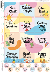 Summer Fun with Essential Oils Label Sheet