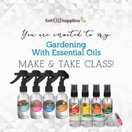 FREE Downloadable Gardening with Essential Oils Collection eInvite For Social Media and Email Campaigns