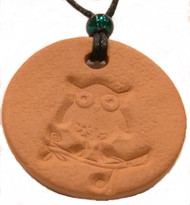Owl Terracotta Necklace For Essential Oils