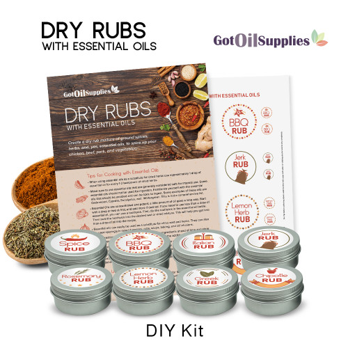 Dry Rubs with Essential Oils DIY Do It Yourself Kit