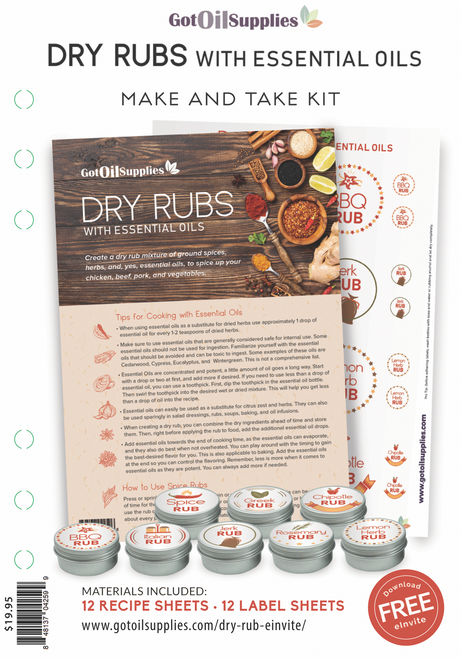 Dry Rubs with Essential Oils Make And Take Workshop Kit