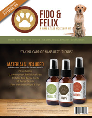 Fido and Felix Make and Take Essential Oil Workshop Kit For Pets and Animals and Cats