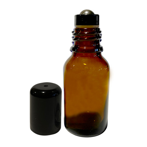 15ml Boston Round Essential Oil Glass Bottles With Stainless Steel Roller Ball Inserts