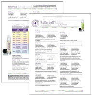 Rollerball Babies and Mamas Make and Take Essential Oil Workshop Kit Recipe Sheet Tear Pad