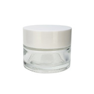 15 ml Clear Glass Salve Cream Jars | Lip Balm Containers