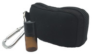 Black Keychain Essential Oil Carrying Case With 8 2ml Amber Rollerball Sample Vials