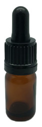 5 ml Boston Round Glass Amber Essential Oil Bottles with Glass Dropper Caps