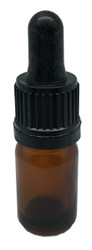 10 ml Boston Round Glass Amber Essential Oil Bottles with Glass Dropper Caps