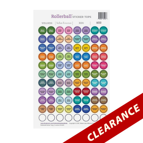 Rollerball Mixed Make and Take Workshop Kit Sticker Tops For All 4 Rollerball Sets