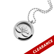 Aroma Jewelry Lotus Flower Essential Oil Diffusing Metal Locket Pendant Necklace For Aromatherapy