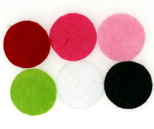 Assorted Felt Circle Scent Pads For Aroma Jewelry