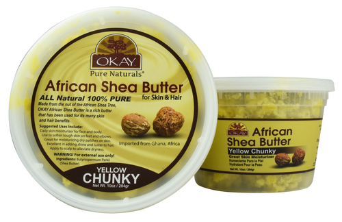 African Chunky Yellow Shea Butter 10 oz. Jar