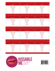 Kissable Me Pepperminty Essential Oil Lip Balm Labels