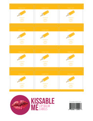 Kissable Me Orange Creme Essential Oil Lip Balm Labels