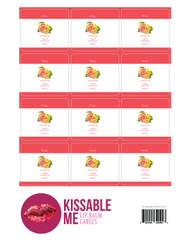 Kissable Me Citrusy Essential Oil Lip Balm Labels