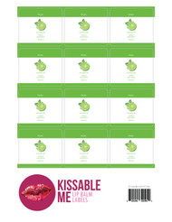 Kissable Me Mojito Essential Oil Lip Balm Labels