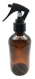 8 oz. Amber Glass Bottle with Black Trigger Spray Top