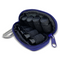 Essential Oil Personal Travel Purple Keychain Bag For 1 ml or 2 ml Glass Bottles and Rollerball Bottles
