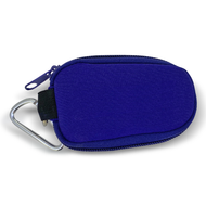 Purple Neoprene Keychain Essential Oil Personal Travel Bag For 1 ml or 2 ml Glass Bottles and Rollerball Bottles