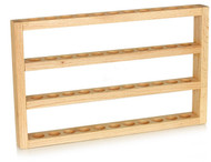 Essential Oil Wooden Wall Display Rack With 4 Tiers For 44 EO Bottle Storage