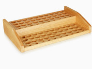 Essential Oil Wooden Display Rack With 2 Tiers Riser For 80 EO Bottle Storage