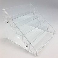 Essential Oil Clear Acrylic Display Rack With 5 Tiers For 30 Vials, Bottles or Containers