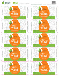 Green Cleaning With Essential Oils Fruit & Veggie Labels