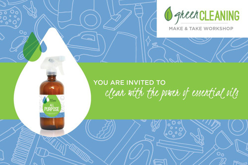 Green Cleaning With Essential Oils Postcard Invitations