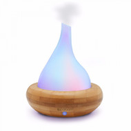 AromaScape Glass and Bamboo Ultrasonic Essential Oil Diffuser For Aromatherapy