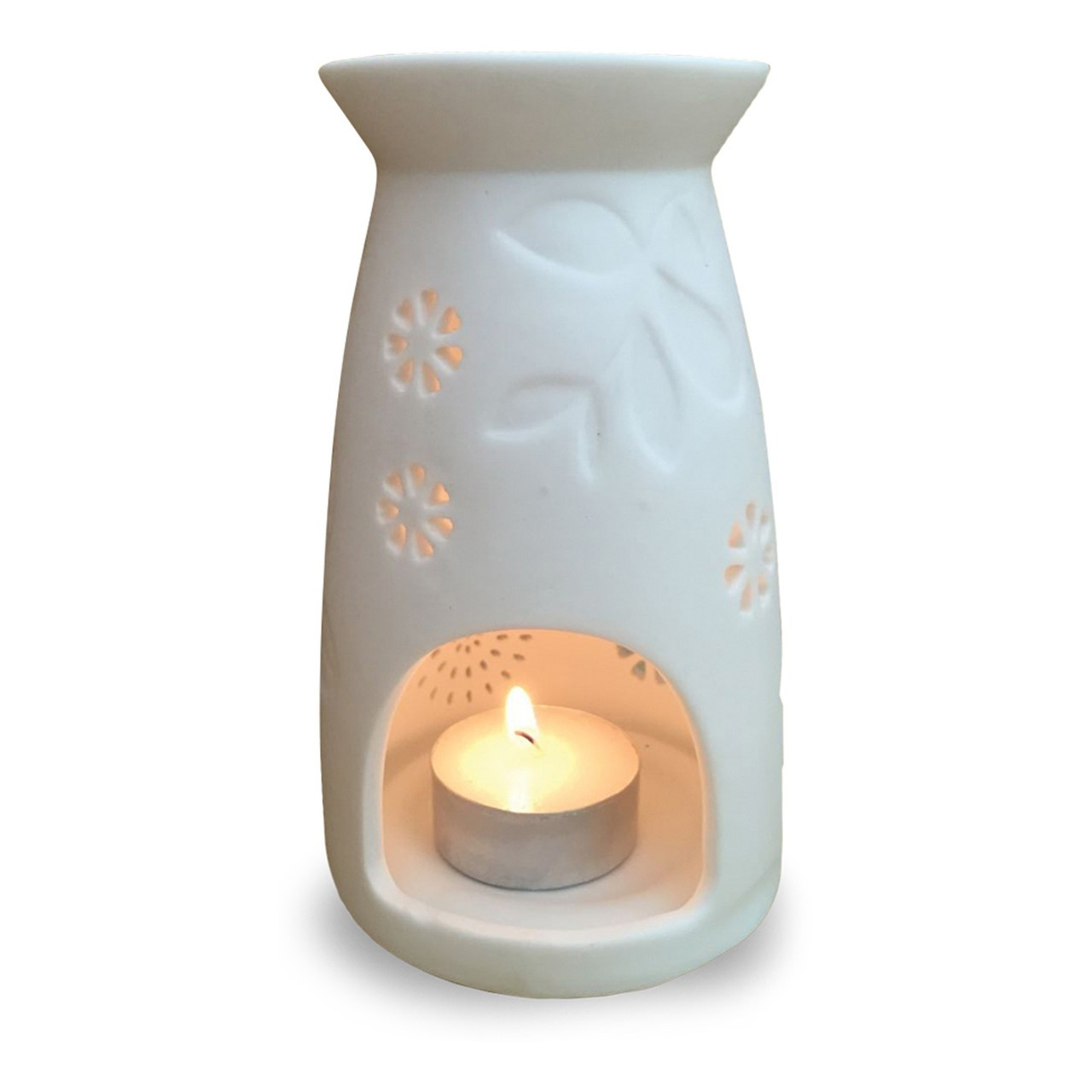 Oilessence Ceramic Essential Oil Warmer With Tea Light Diffuser For Aromatherapy