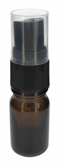 5 ml Boston Round Amber Glass Essential Oil Bottles With Spray Caps