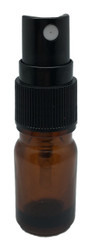 10 ml Boston Round Glass Amber Essential Oil Bottles with Spray Caps