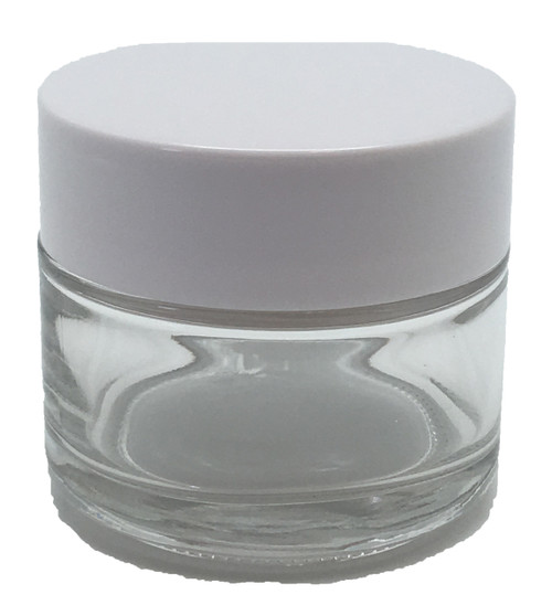 100 ml Clear Glass Salve Cream Jars with White Lids For Essential Oils