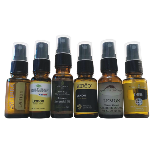 Black Spray Caps for doterra, young living, ameo, rocky mountain, bulk apothecary, plant therapy, mountain rose herb and nature's oil Essential Oil Glass Bottles