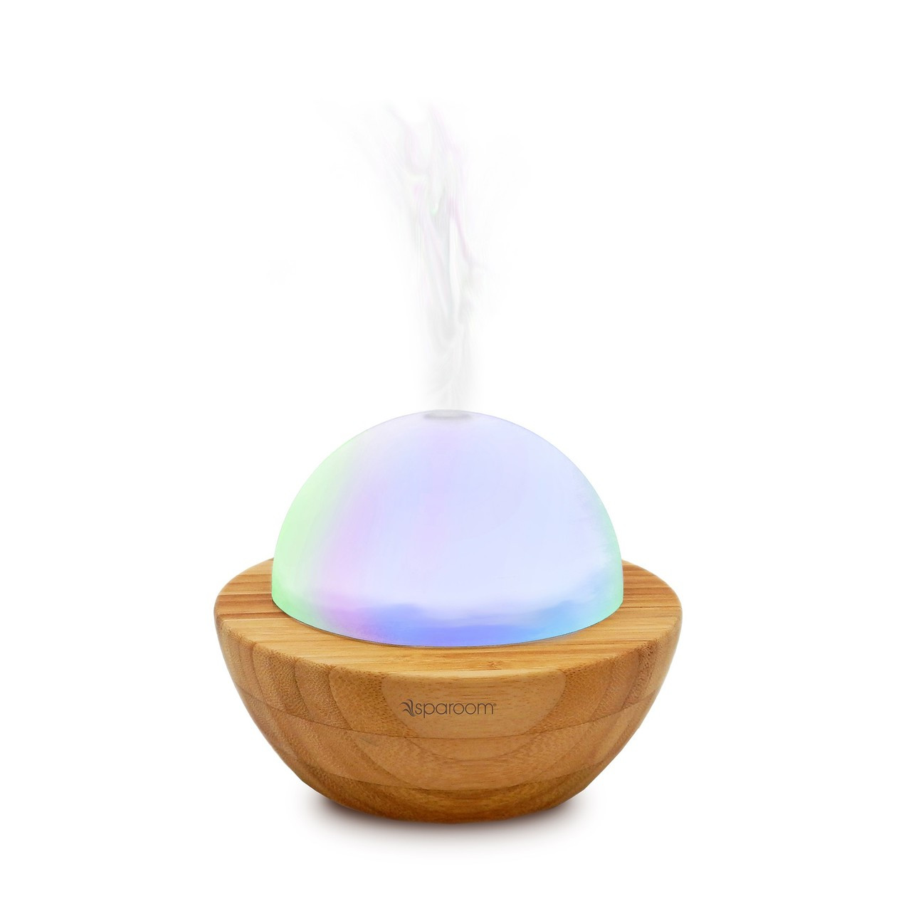 Aromaglobe Glass And Bamboo Ultrasonic Essential Oil Diffuser For Aromatherapy