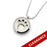 Aroma Jewelry Animal Paw Essential Oil Diffusing Locket Pendant Necklace For Aromatherapy