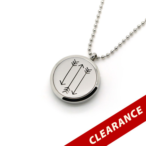 Aroma Jewelry Arrows Essential Oil Diffusing Locket Pendant Necklace For Aromatherapy