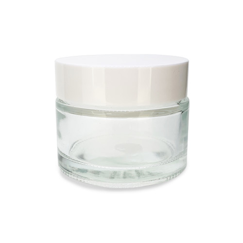 50 ml Clear Glass Salve Cream Jars | Lip Balm Containers