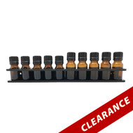 Black Essential Oil Wall Display Acrylic Rack For 5ml and 10ml Vial Containers Holder Storage Organizer Shelf