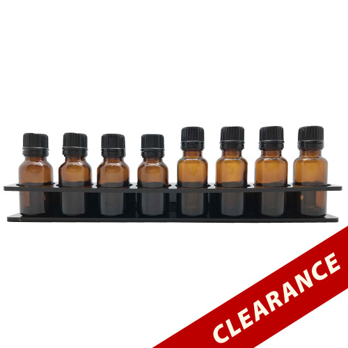 Black Essential Oil Wall Display Acrylic Rack For 15ml and 20ml Vial Containers Holder Storage Organizer Shelf