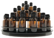 Black Essential Oil Carousel Display Rack, 3-Tier, 33 5ml, 10ml, 15ml or 20ml Boston Round Glass Bottles