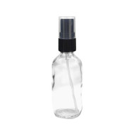2oz Clear Boston Round Spray Bottle With Fine Mist Sprayer For Essential Oils