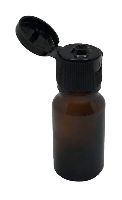 10 ml Boston Round Glass Amber Essential Oil Bottles with Flip Caps