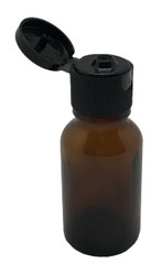 15 ml Boston Round Glass Amber Essential Oil Bottles with Flip Caps