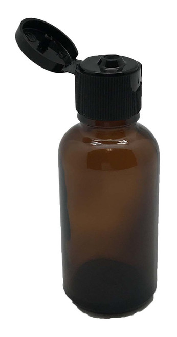 30 ml Boston Round Glass Amber Essential Oil Bottles with Flip Caps